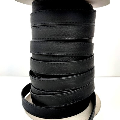 cinta polipiel negra de 2 cm