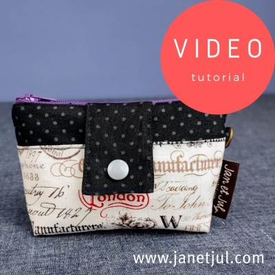 Tutorial para coser un monedero de tela con cremallera y bolsillo exterior con presilla
