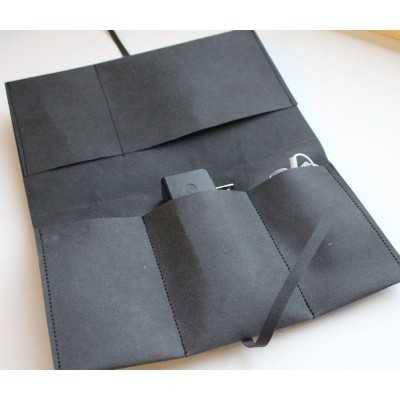 Proyecto DIY con tejido kraft gris
