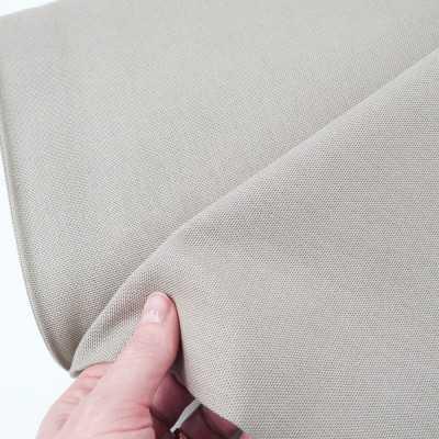 tela loneta de algodon gris