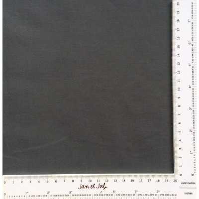 Tela básica de algodón color gris oscuro