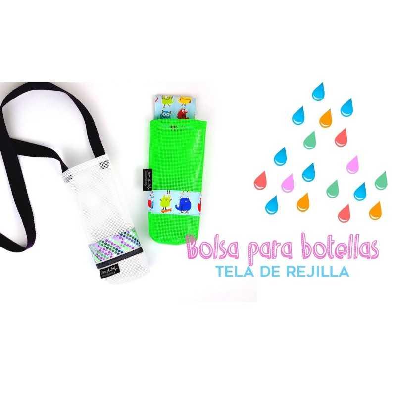 Tutorial bolsa para botellas y bidones con tela de rejilla