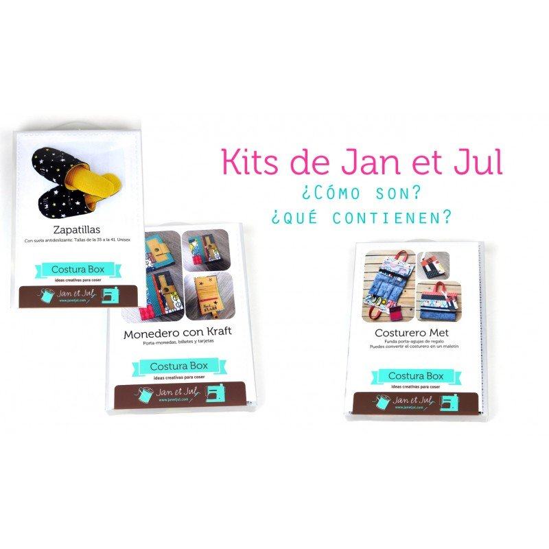 Como son y que llevan los kits Costura Box de Jan et Jul