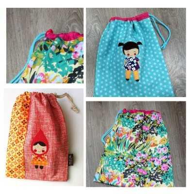 bolsas infantiles patchwork DIY