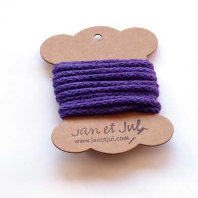 cordon de algodón lila