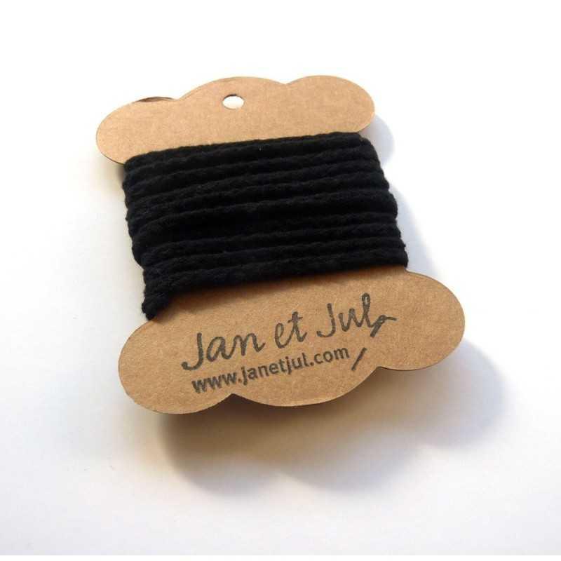 cordon de algodón negro