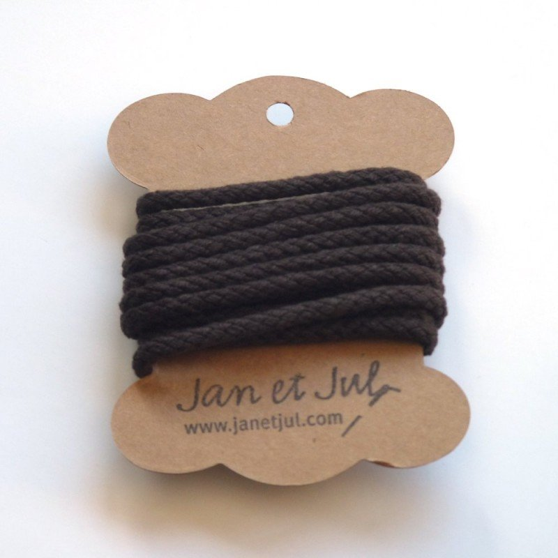 cordon de algodón marrón