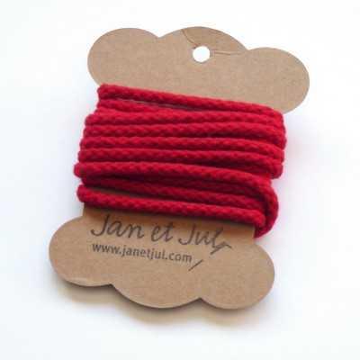 cordon de algodón rojo