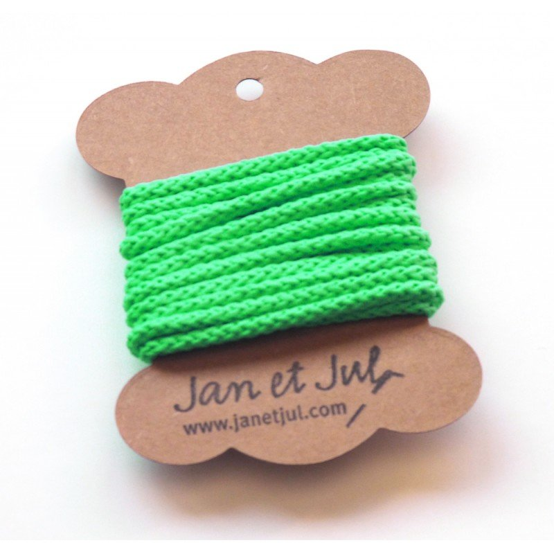 cordon de algodón verde