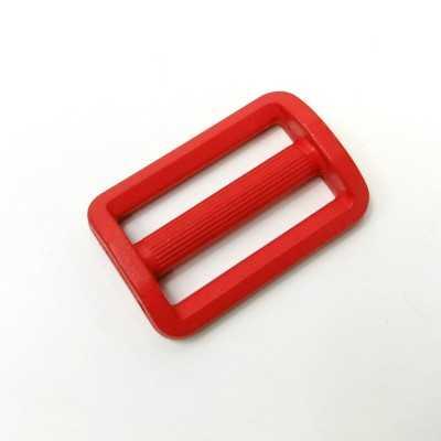 hebilla roja de plastico