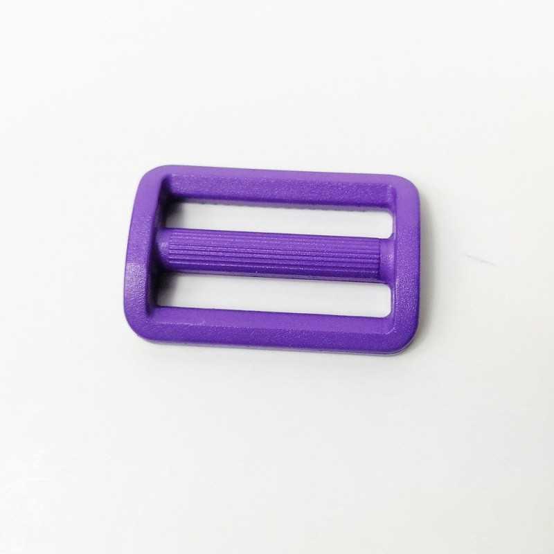 hebilla violeta de plastico