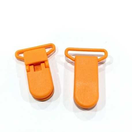 Pinza de plástico naranja