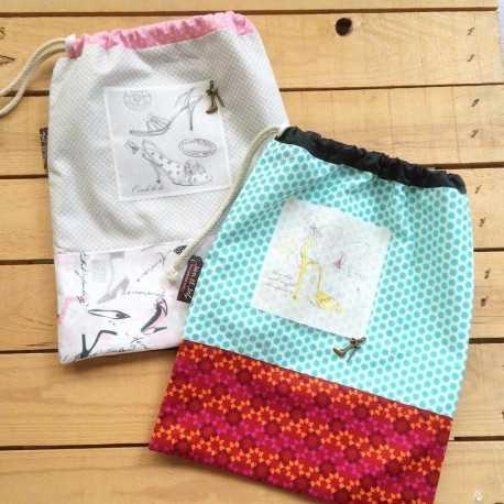 Patrón para coser una bolsa para zapatos