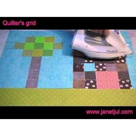 Aprende como usar la friselina adhesiva Quilter's grid