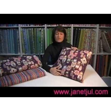 Aprende a coser un cojín DIY con telas