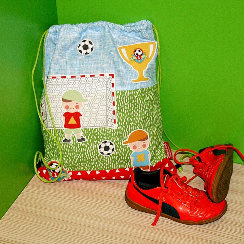 Mochila cordones DIY futtbolista