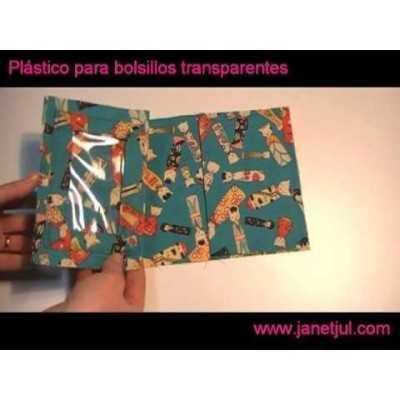Aprende a coser bolsillos transparentes con plástico