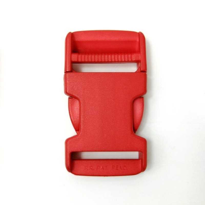 Cierre de plástico rojo