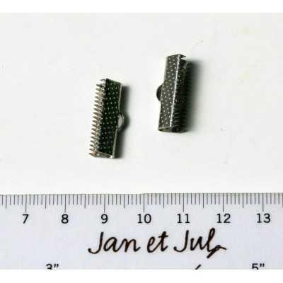 cierre de metal plata para pulseras