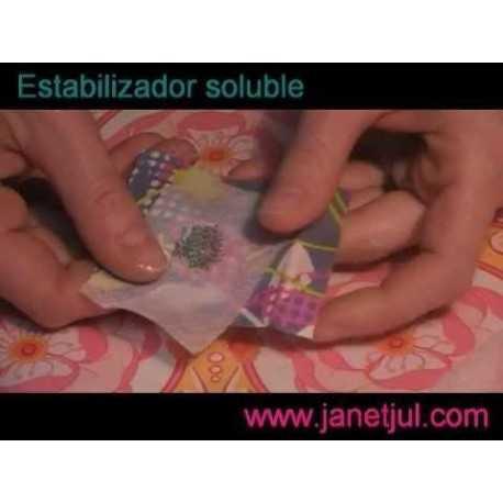 Aprende como usar el estabilizador Soluble de tela