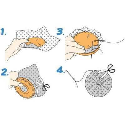 como hacer yoyo de tela