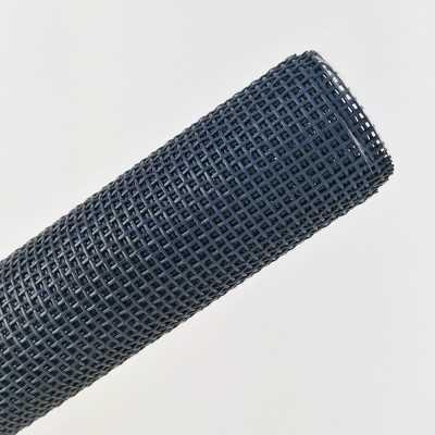 tela de rejilla azul marino