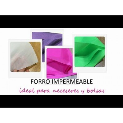Tutorial forro o tejido impermeable de Jan et Jul