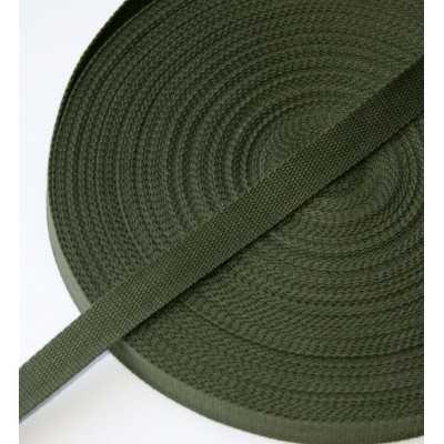 cinta de algodón 25mm verde militar