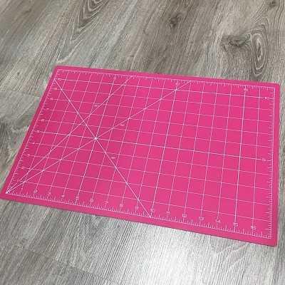 base de corte rosa pulgadas