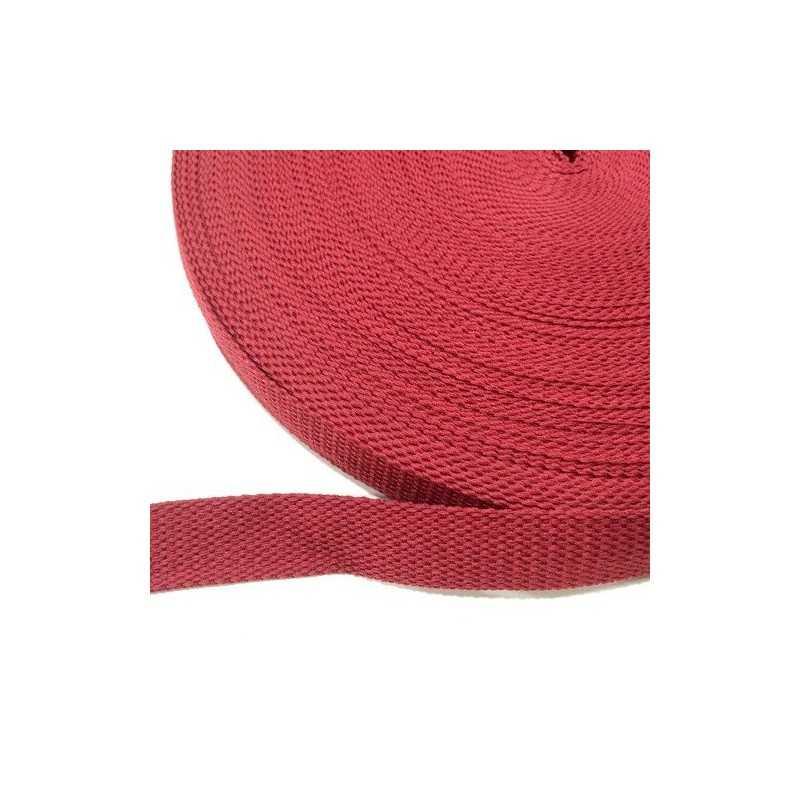 cinta de algodón 25mm granate