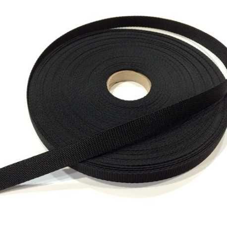 Cinta nylon negra 2cm de ancho
