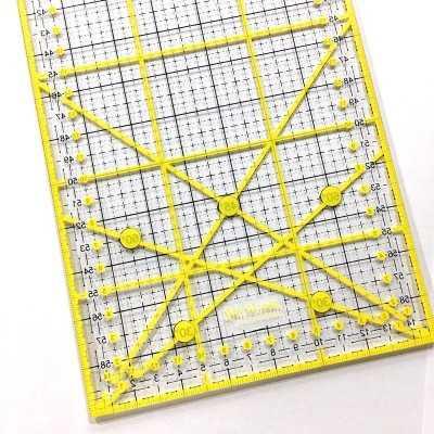 regla de patchwork 15 x30 cm