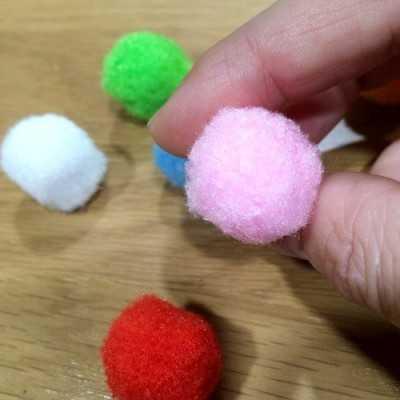 pompones de colores para coser