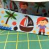 Cinta grossgrain de piratas