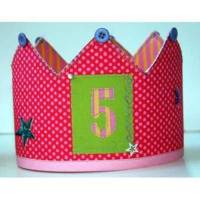 corona aniversario con entretela adhesvia rigida doble cara