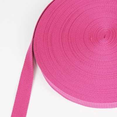 cinta de algodón 25mm fucsia