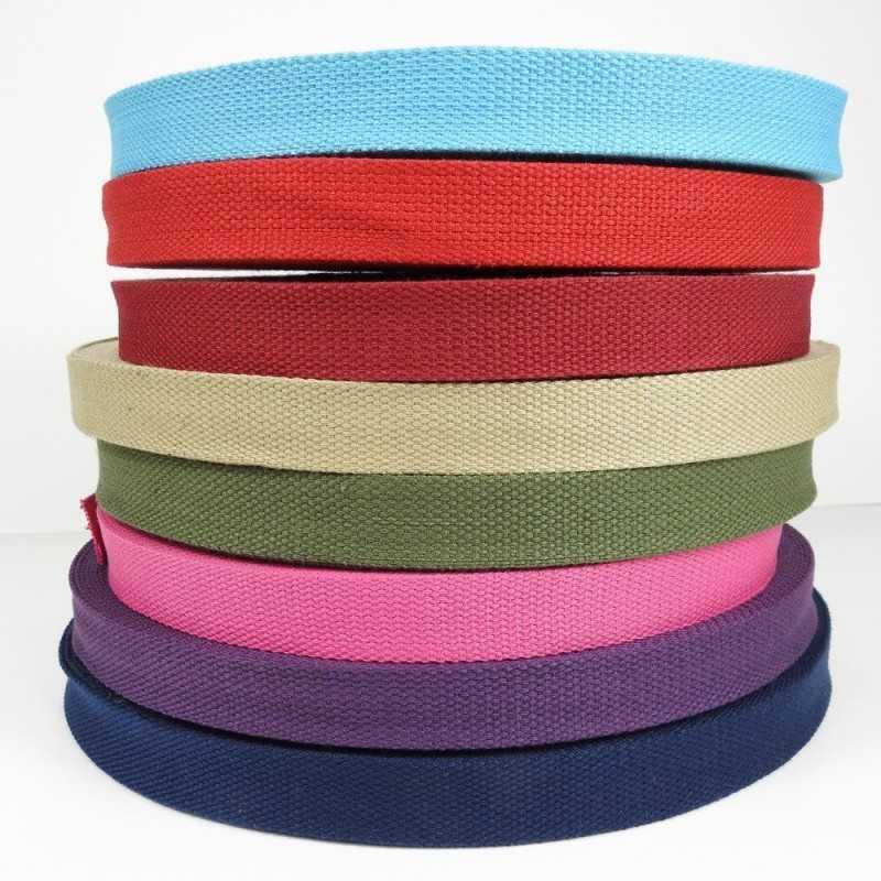 cintas de algodón de colores 25mm de ancho