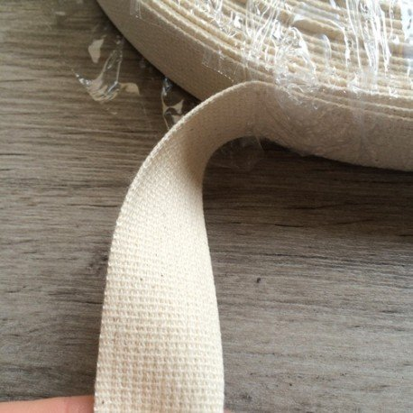 cinta algodón blanca - cruda