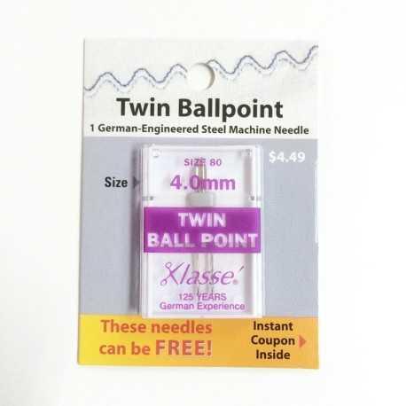 aguja doble para coser tejidos de punto. tamaño 80