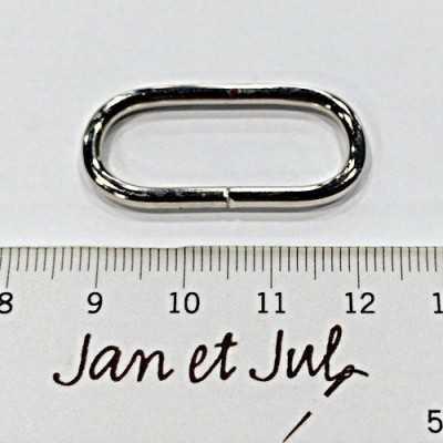 anilla niquel 3cm ovalada