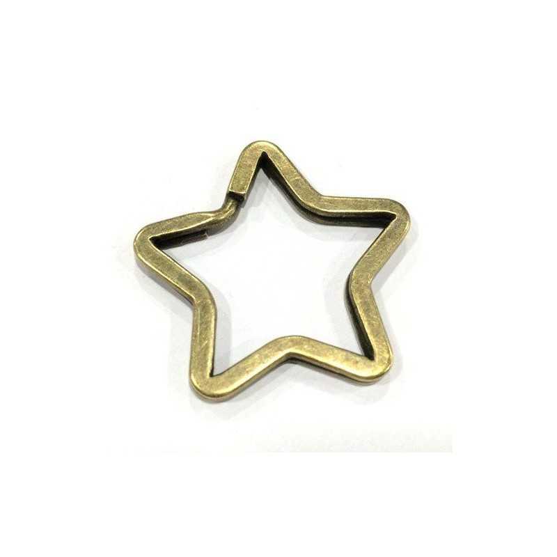 Llavero en forma de estrella