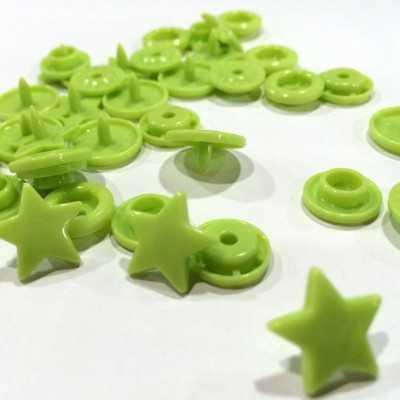 Snap estrella verde lima