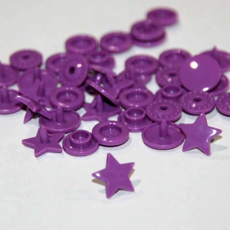 Snap estrella violeta