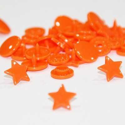 Snap estrella naranja