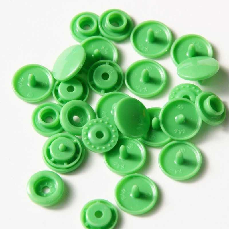 snaps redondos T5 verde