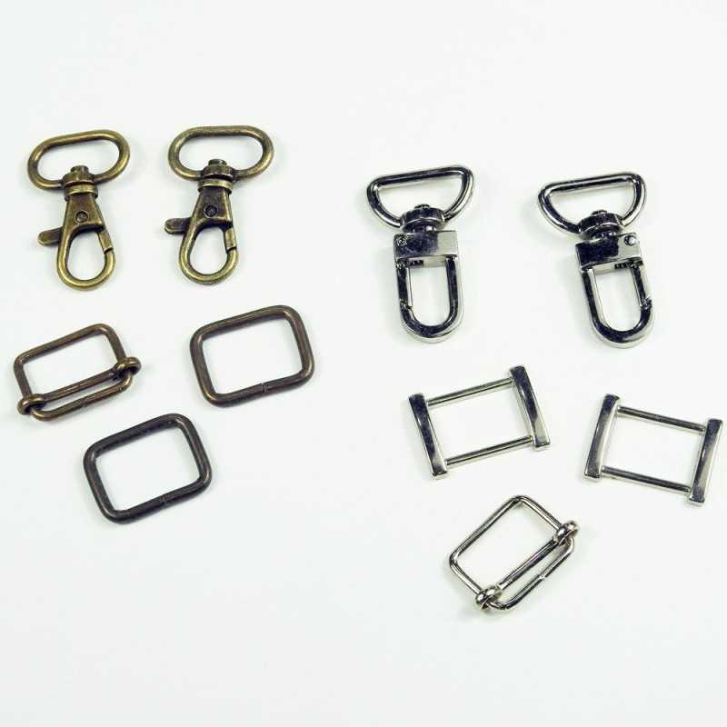Pack cierres de metal 20mm rectangular