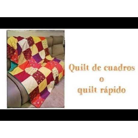 Como coser una colcha o quilt de cuadros
