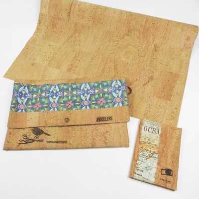 Proyectos con tela de corcho natural