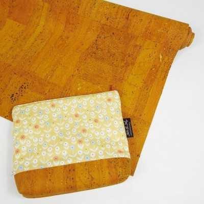 tejido de corcho mostaza