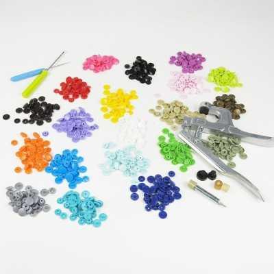 Kit de snaps con 200 piezas